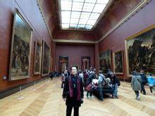 王岳川参观卢浮宫